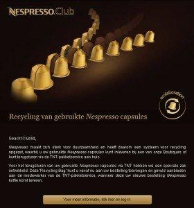 Nespresso Ecolaboration e-Mail