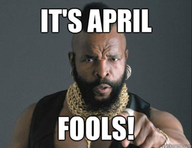 April Fools and Logistics