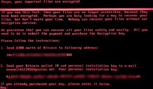 wannamore ransomware screenshot